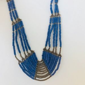 Nordstrom-- Blue & Gold Chunky Necklace